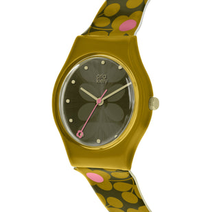 Orla Kiely Mustard & Khaki Ladies Bobby Watch - BouChic
