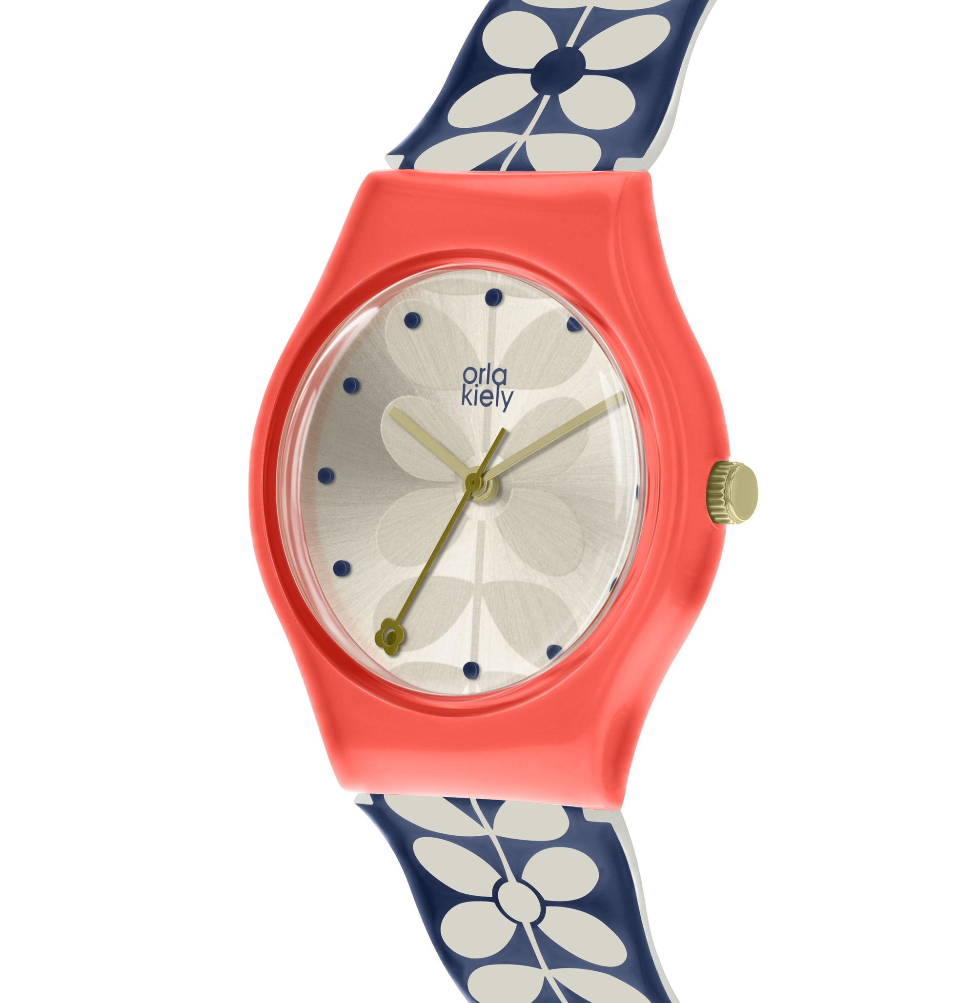 Orla Kiely Navy & Red Ladies Bobby Watch - BouChic