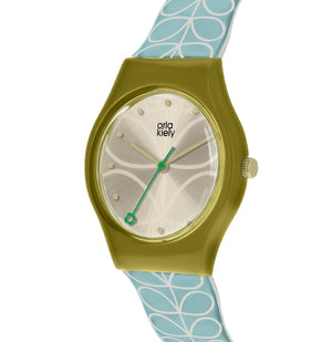 Orla Kiely Olive and Blue Ladies' Bobby Watch - BouChic