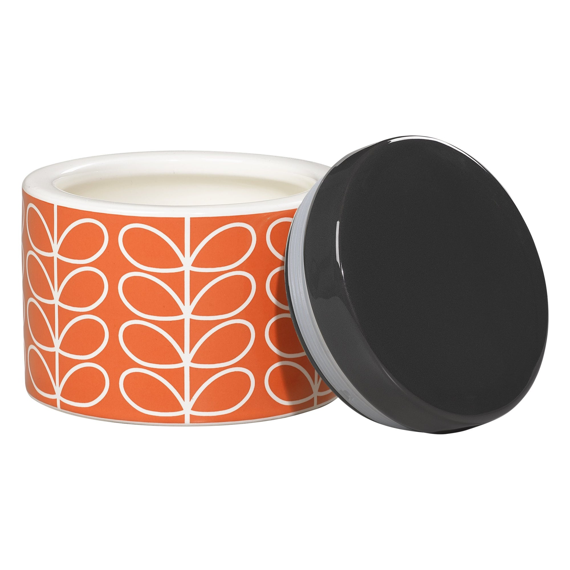 Orla Kiely Persimmon Ceramic Small Storage Jar - BouChic