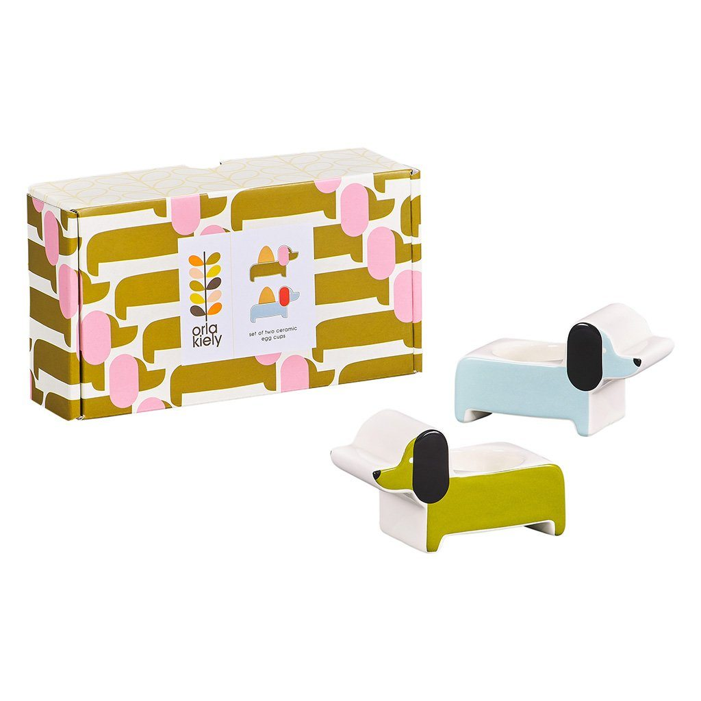 Orla Kiely Set of 2 Dachshund Egg Cups - BouChic