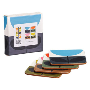 Orla Kiely Set of 4 Coasters Sunflower Multi - BouChic