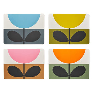 Orla Kiely Set of 4 Placemats Sunflower Multi - BouChic