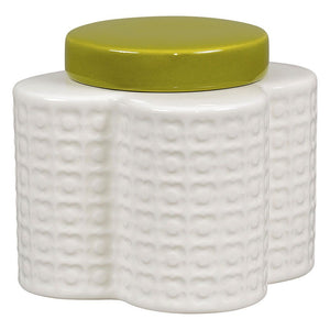 Orla Kiely Shaped Storage Jar Pressed Flower Seagrass - BouChic