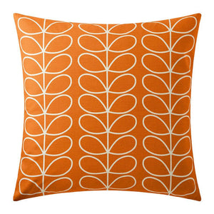 Orla Kiely Small Linear Stem Cushion Persimmon - BouChic