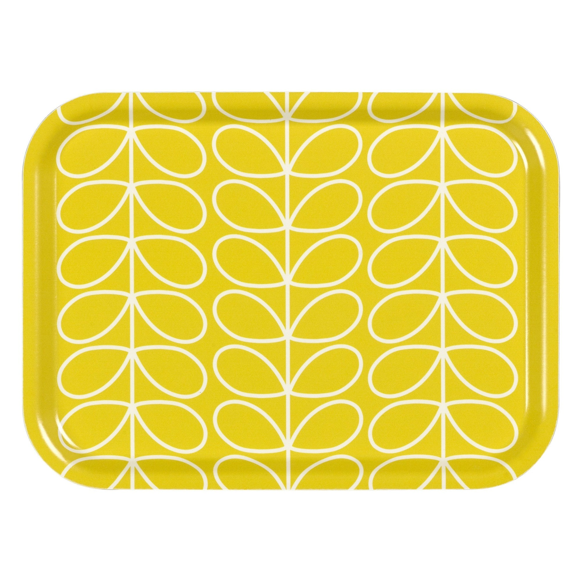 Orla Kiely Small Serving Tray Linear Stem - Yellow - BouChic