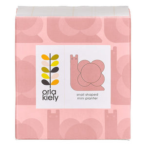 Orla Kiely Snail Shaped Mini Planter Bubblegum - BouChic