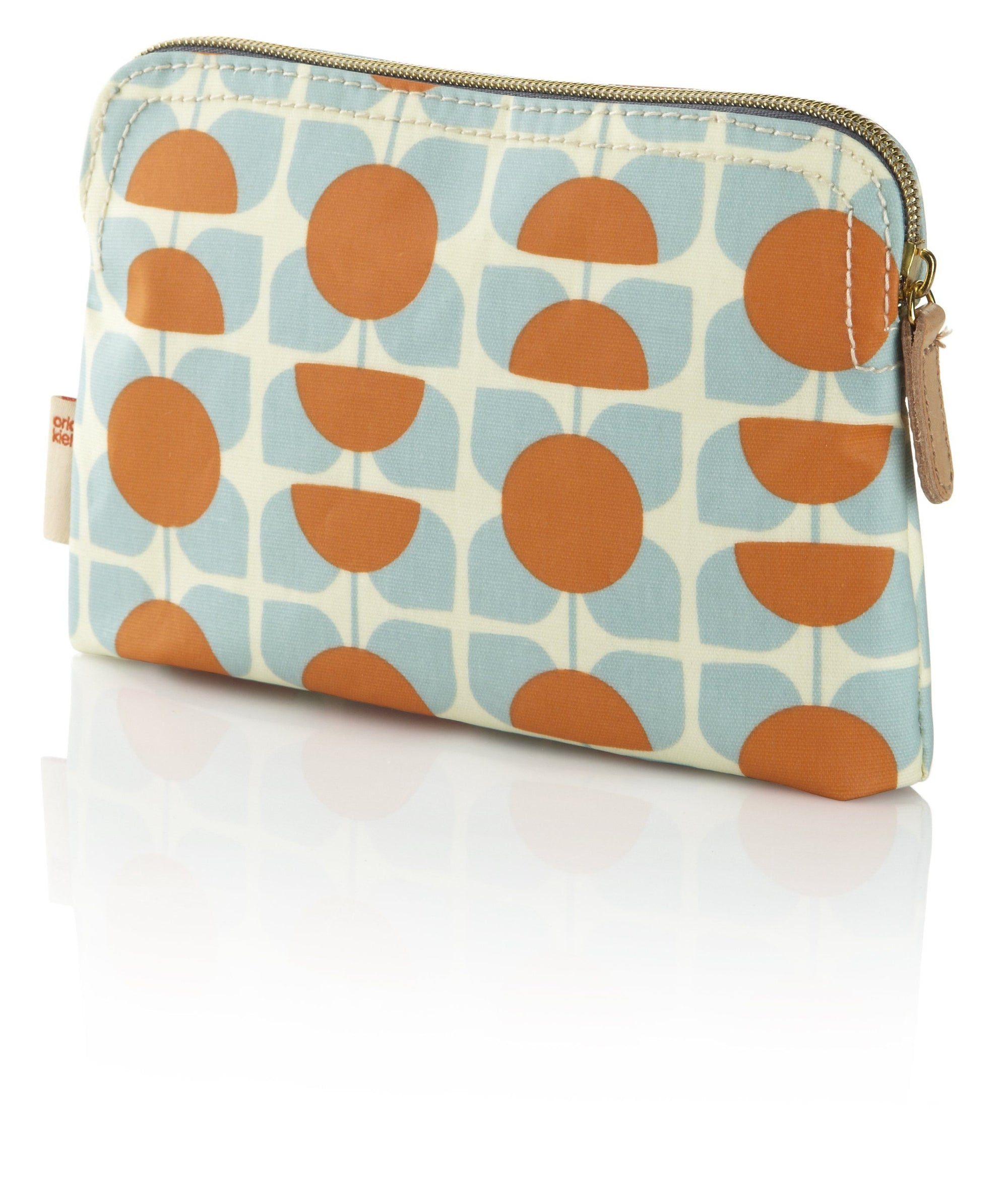 Orla Kiely Square Flower Orange And Blue Cosmetic Bag - BouChic