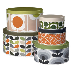 Orla Kiely Stem Print Set of 5 Assorted Cake Tins - BouChic