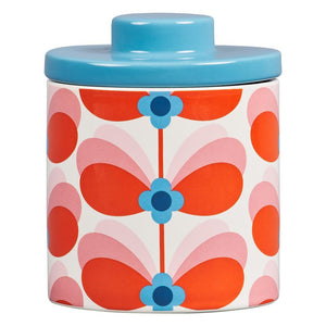Orla Kiely Storage Jar Butterfly Stem Bubble Gum Print - BouChic