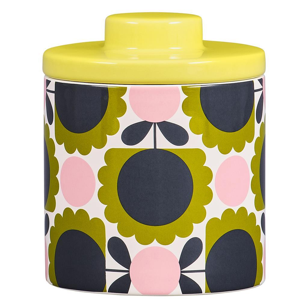 Orla Kiely Storage Jar Scallop Flower Forest - BouChic