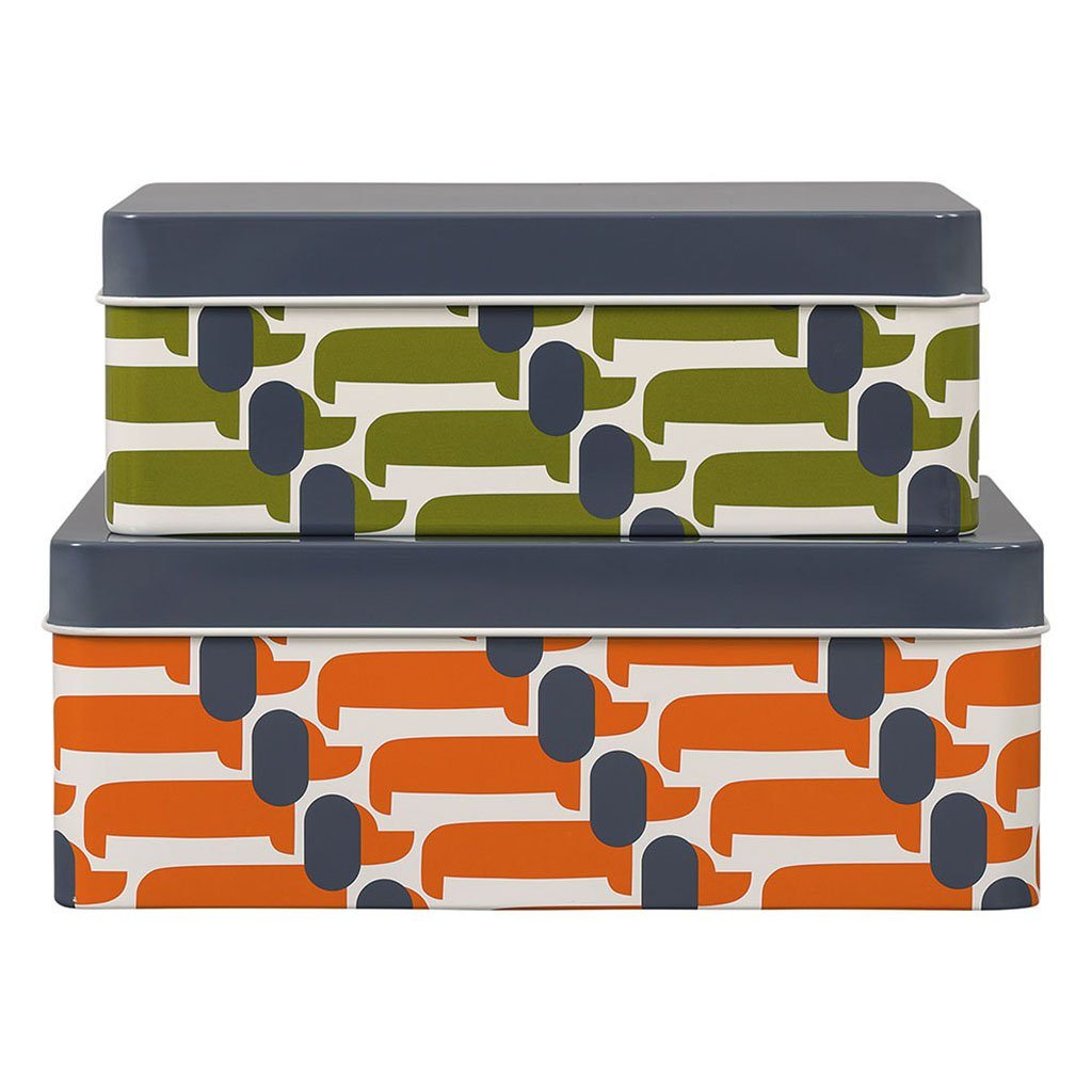 Orla Kiely Storage Tins Set of 2 Dachshund - BouChic