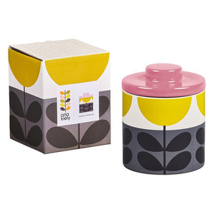 Orla Kiely Ceramic Storage Jar Sunflower Ochre - BouChic