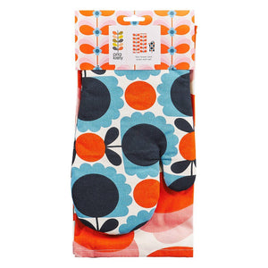 Orla Kiely Tea Towel and Oven Mitt Tea Set Butterfly Stem - BouChic