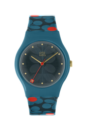 Orla Kiely Teal Ladies Bobby Watch - BouChic