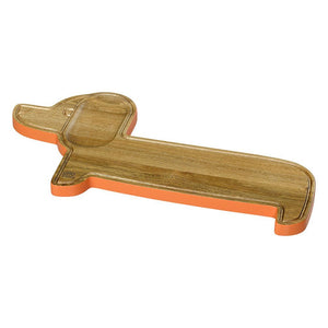 Orla Kiely Wooden Serving Board Dachshund Persimmon - BouChic