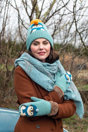 Penguin Cosie Hat in Ice Blue Ladies - BouChic