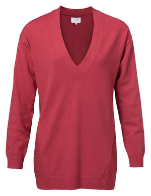 Pink Rouge V Neck Sweater - BouChic