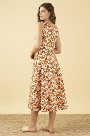 ** PRE-ORDER ** Emily & Fin Margot Midi Dress Mini Summer Oranges - BouChic