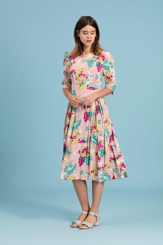 Pretty in Pink Floral Louisa Dress Dress Bouchic