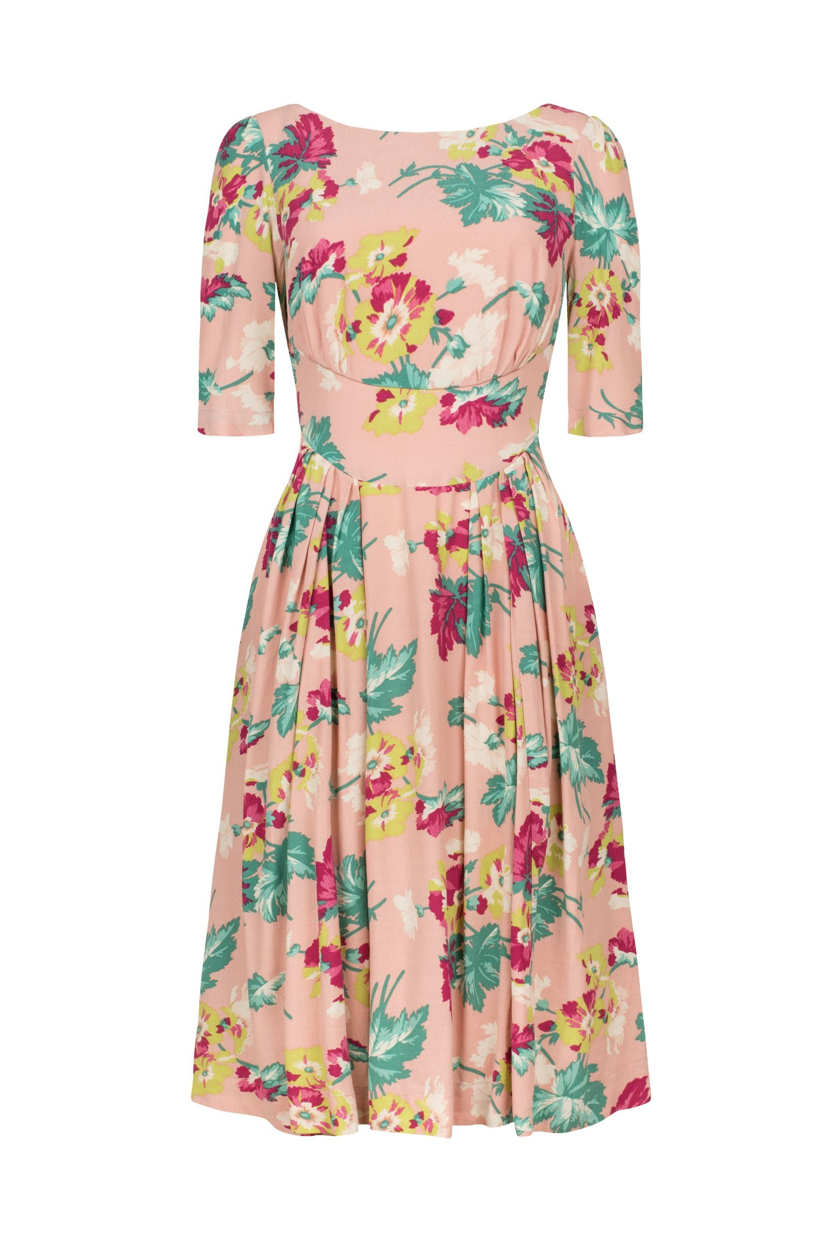 Pretty in Pink Floral Louisa Dress Emily & Fin - BouChic