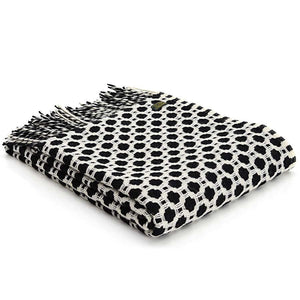 Pure New Wool Throw Crossroads - Black - BouChic