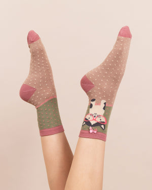 Pussy in Specs Ladies Socks - BouChic