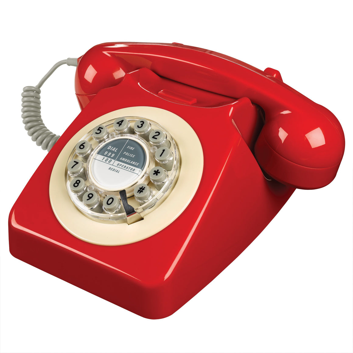 Red 746 Telephone Classic 1960's Design Telephone Bouchic