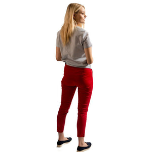 Penny Cropped Trousers Red - BouChic