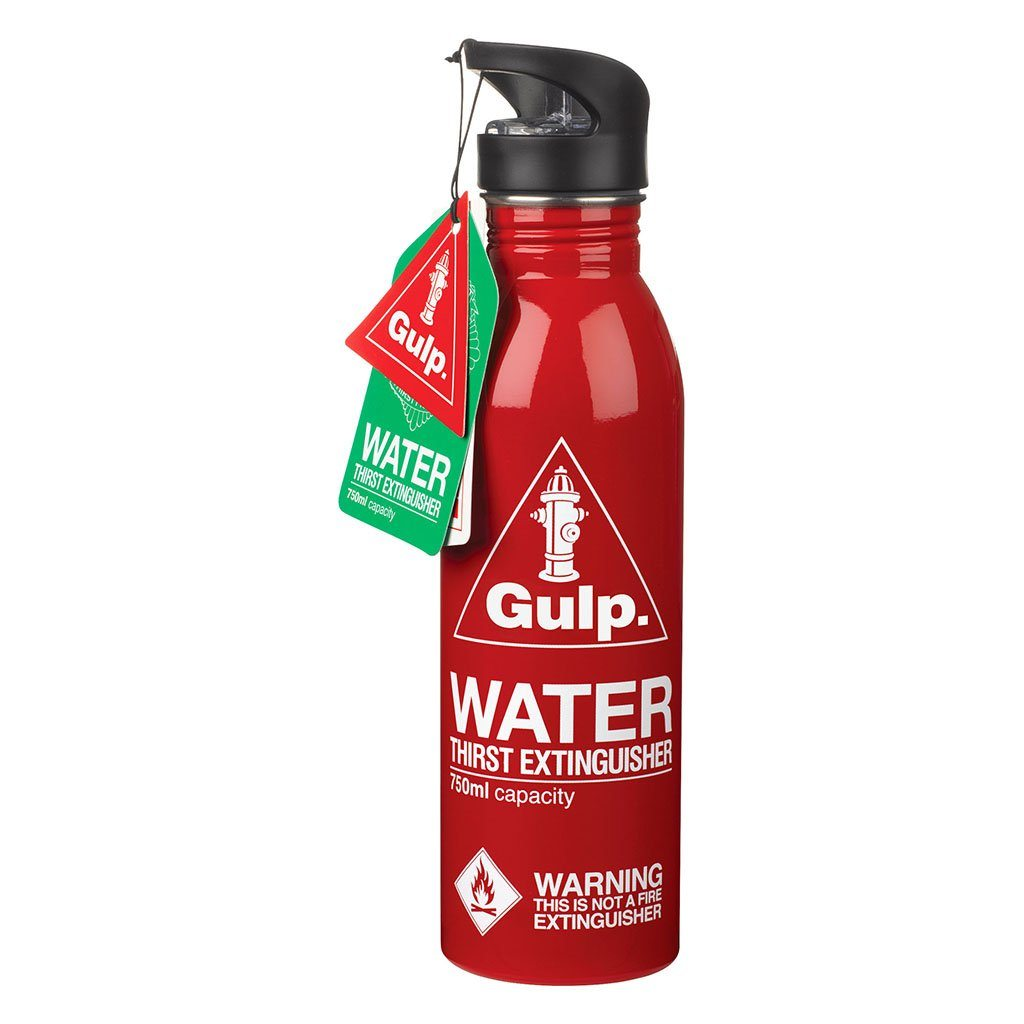 Red Water Bottle Thirst Extinguisher - BouChic