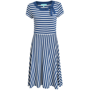 Rita Striped Dress Navy/Cream Dress BouChic | Homeware, Fashion, Gifts, Accessories