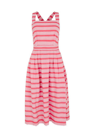 Romy Beachcomber Stripe Dress Pink & White Emily & Fin - BouChic