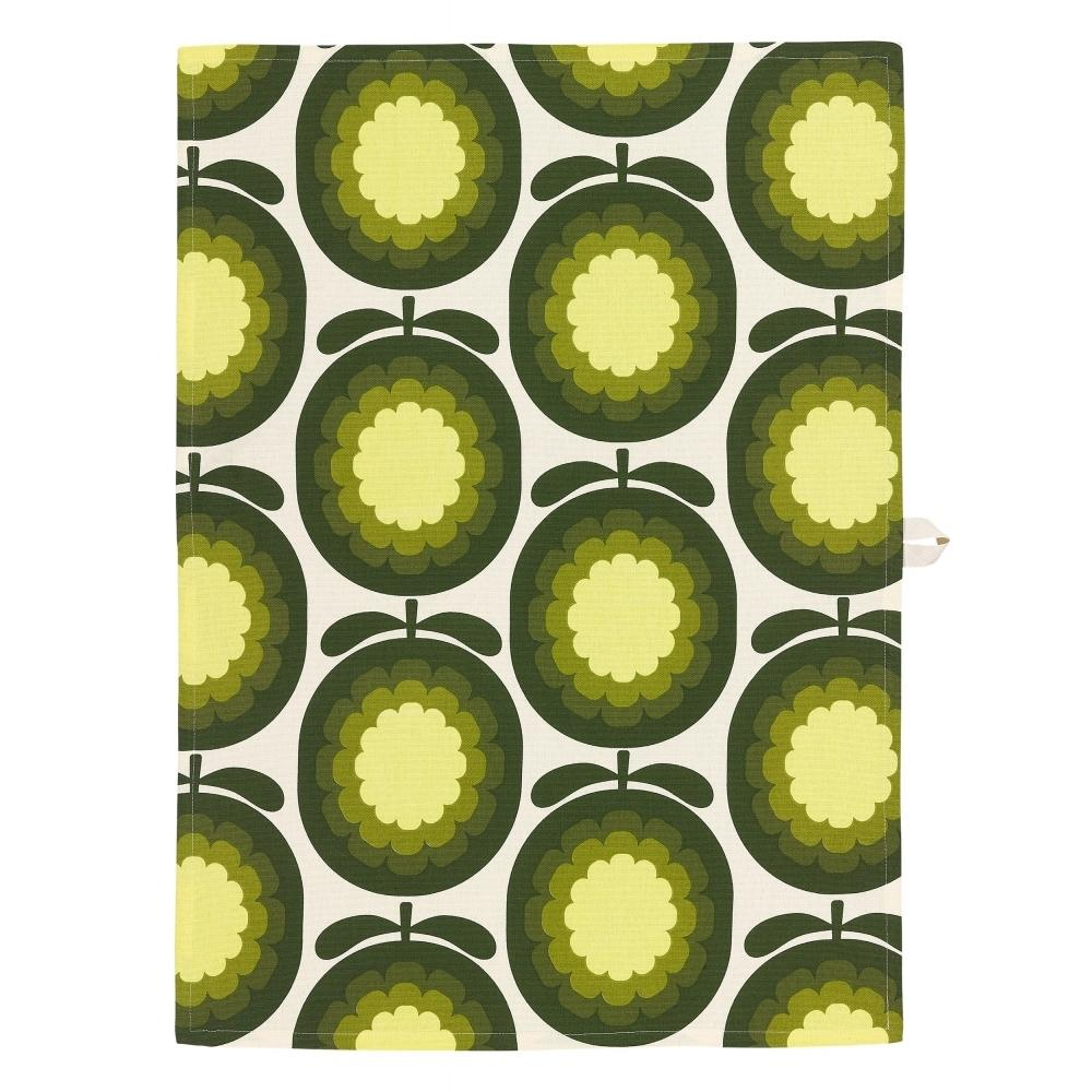 Set of 2 Tea Towels Cantaloupe Melon Olive Orla Kiely - BouChic