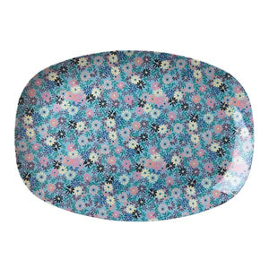 Rectangular Melamine Plate Small Flower - BouChic