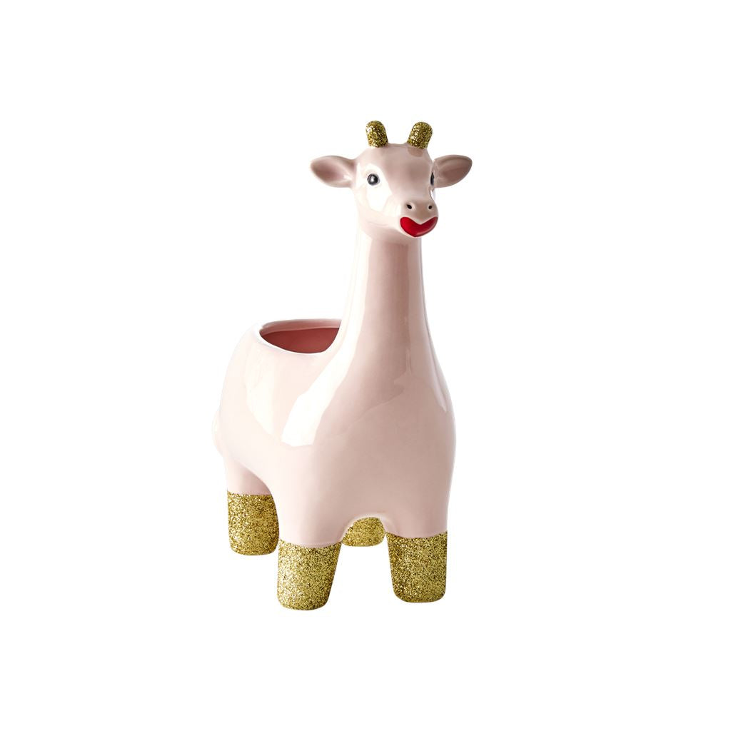 Soft Pink Giraffe Flower Pot - BouChic