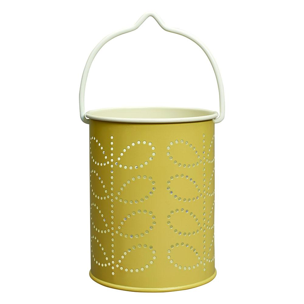 Stem Print Tea Light Lantern in Lemon Yellow - BouChic