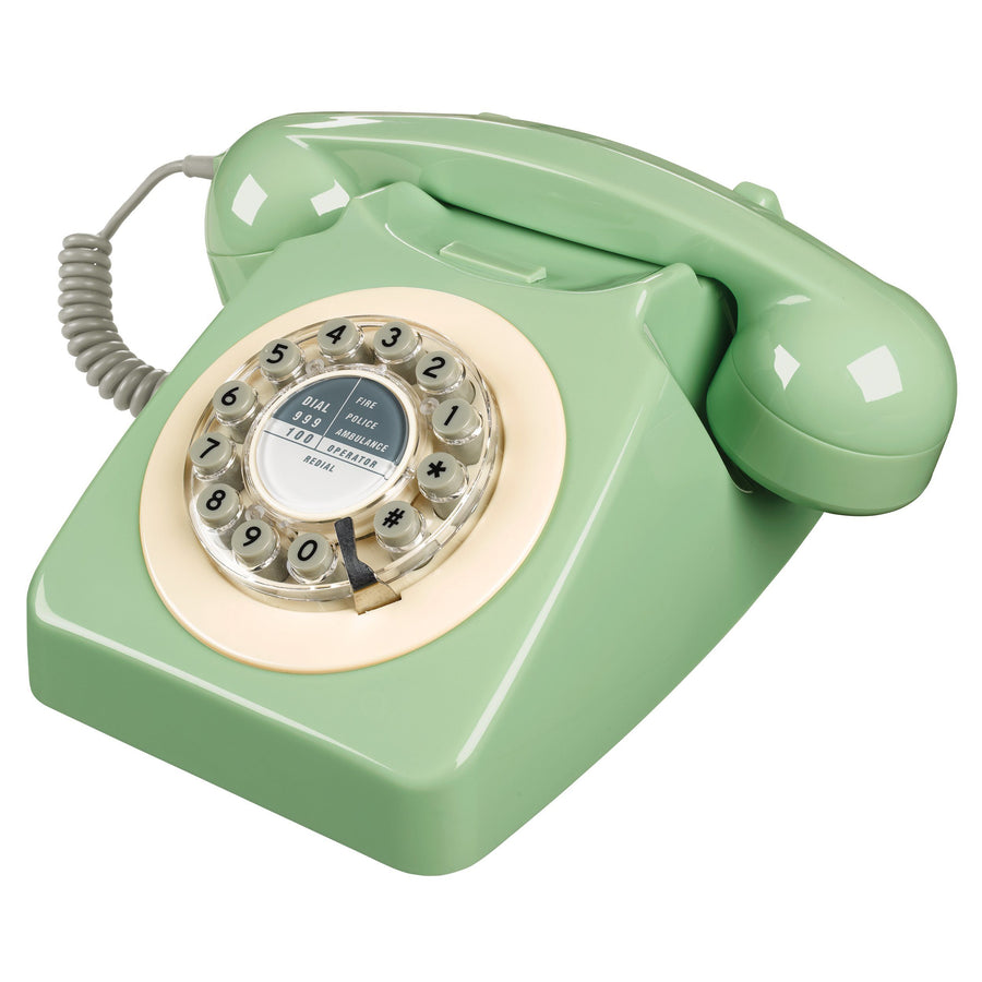 Swedish Green 746 Telephone Classic 1960's Design Telephone Bouchic
