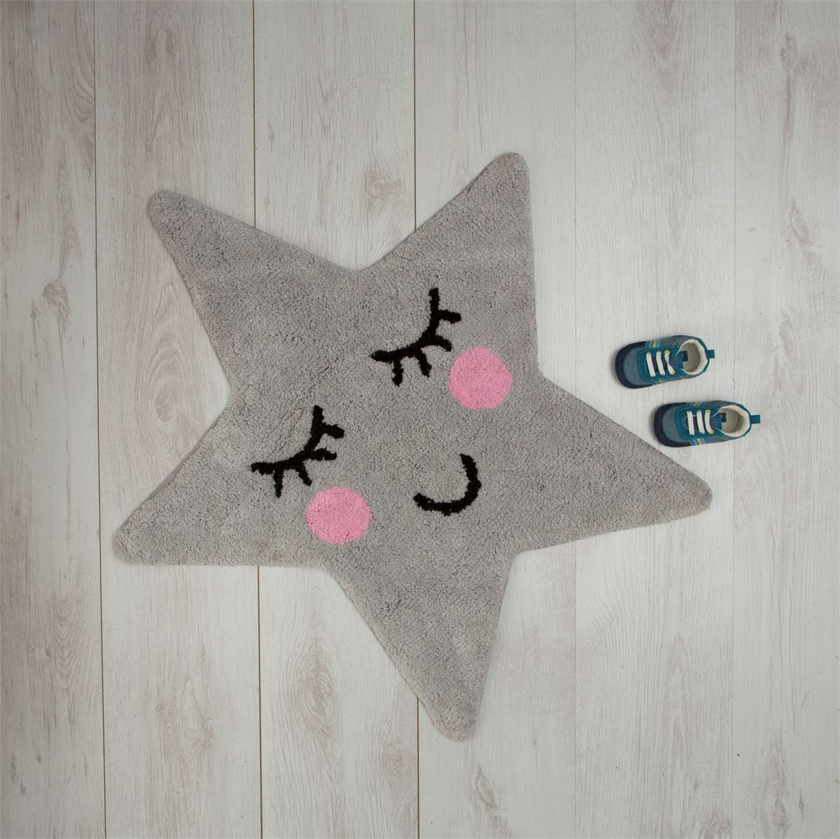 Sweet Dreams Grey Star Rug - BouChic