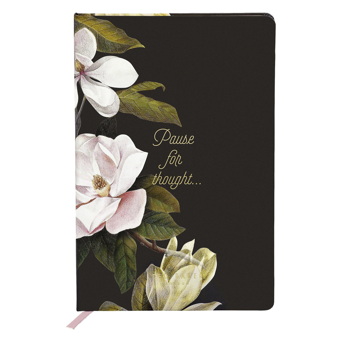 Ted Baker Opal Print Black A5 Notebook Stationery Bouchic