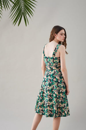 Tropical Toucans Print Pippa Dress - BouChic