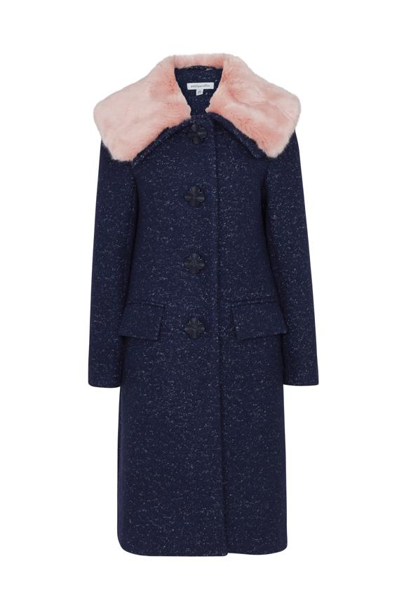 Vivian Emily & Fin Boucle Coat Navy Coat BouChic | Homeware, Fashion, Gifts, Accessories