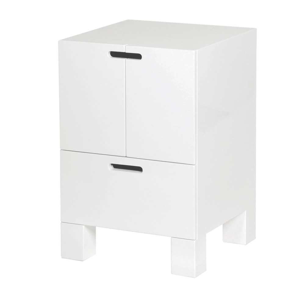 White High Gloss Combination Cupboard - BouChic