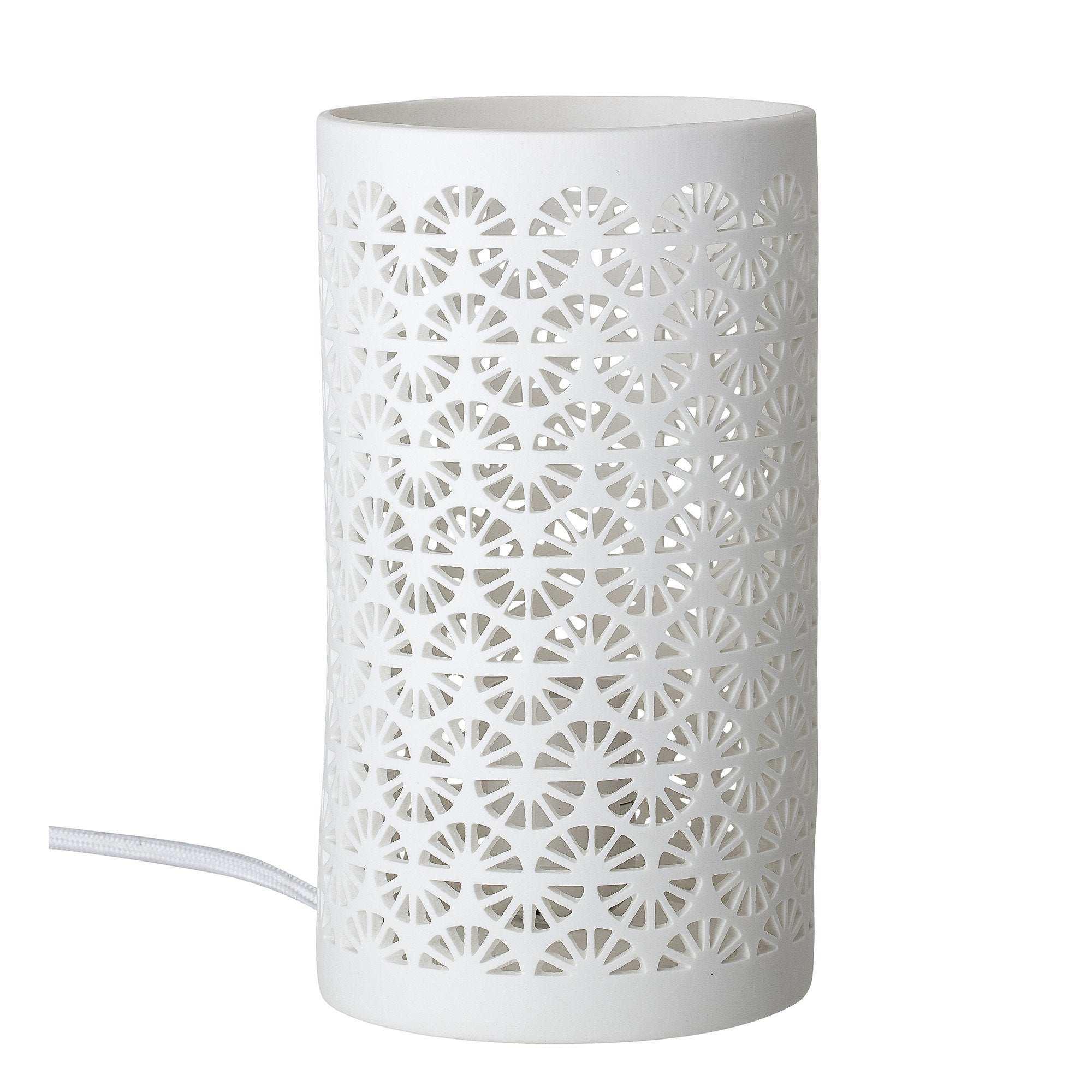 White Porcelain Patterned Table Lamp - BouChic