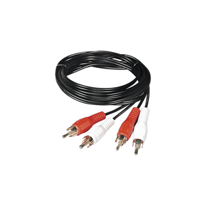 Cable RCA macho a macho de 2 metros de longitud, 4 plus, para aplicaciones de audio y video optimizado para HD