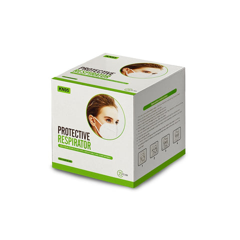 Face Mask - KN95 (Green and White) x 5