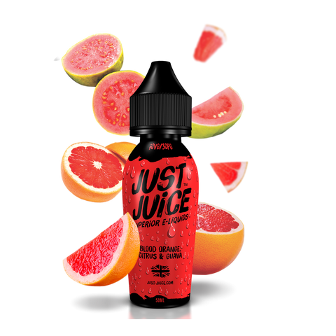 Just Juice - Blood Orange, Citrus & Guava 50ml e-liquid vape juice, blood orange