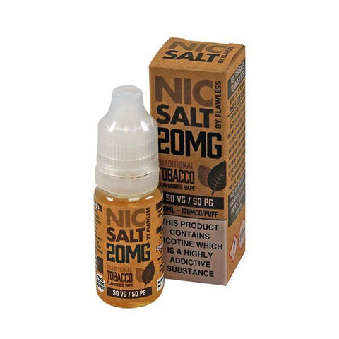 Nic Salt by Flawless -Traditional Tobacco 20mg