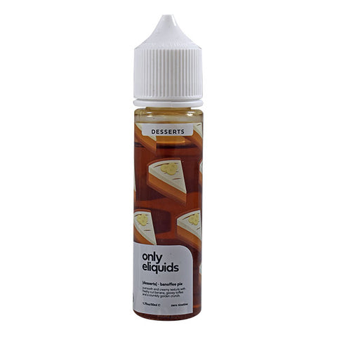 Only Eliquid Desserts - Banoffee Pie 50ml
