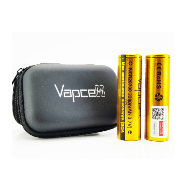 VapCell 20700 Set - With Carry Case