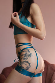 TEASE ME TEAL 4 PIECE SET